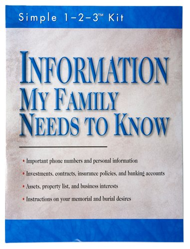 Information My Family Needs to Know (Simple 1-2-3 Kit), by Ltd. Editors of Publications International