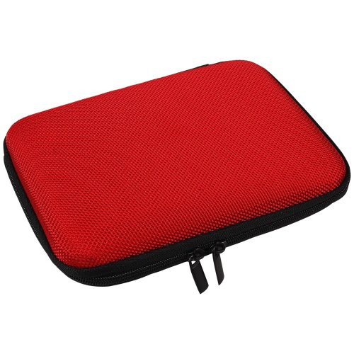Tasche Case Huelle fuer 6,4cm (2,5 Zoll) Festplatten rot für Buffalo HD-PZ1.0U3B MiniStation Extrem HD-PCT1TU3 HD-PCT1.5U3GW HD-PNT500U3L HD-PNT1.0U3BS MiniStation HD-PCT1.5TU3GB MiniStation HD-PNT1.0U3BB MiniStation HD-PNT500U3R MiniStation HD-PCT500U3/B-EU MiniStation HD-PC1TU2/BB-EU MiniStation HD-PA500TU3 MiniSt Thunderbolt