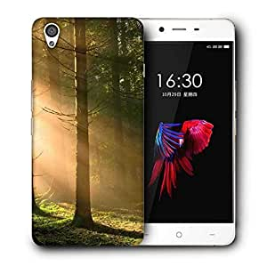 Snoogg Falling Sunlight In Forest Printed Protective Phone Back Case Cover For OnePlus X / 1+X