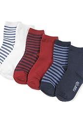 Naartjie Boy's Cotton Bright Stripes & Solids Crew Socks 6 Pack
