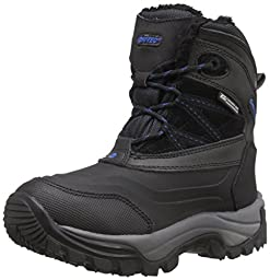 Hi-Tec Snow Peak 200 WP JR Winter Boot (Toddler/Little Kid/Big Kid), Black, 5 M US Big Kid