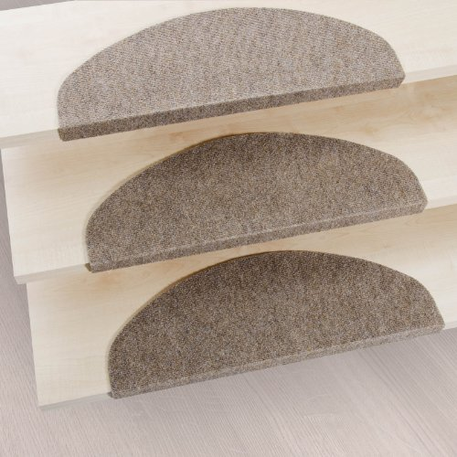casa pura stair tread mats leipzig beige 15 piece set 10 x 26 multiple colours. Black Bedroom Furniture Sets. Home Design Ideas