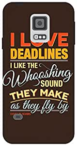 The Racoon Lean Deadlines hard plastic printed back case for Samsung Galaxy S5 Mini