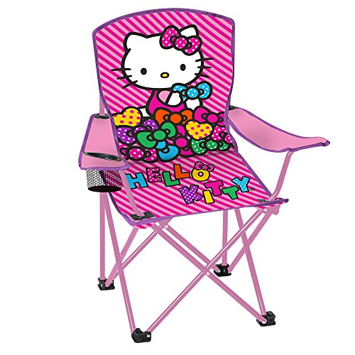 Hello-Kitty-Childs-Folding-Chair-with-Cup-Holder