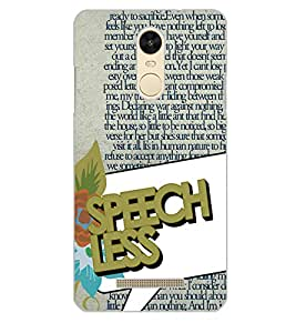 XIAOMI REDMINOTE 3 SPEECH LESS Back Cover by PRINTSWAG