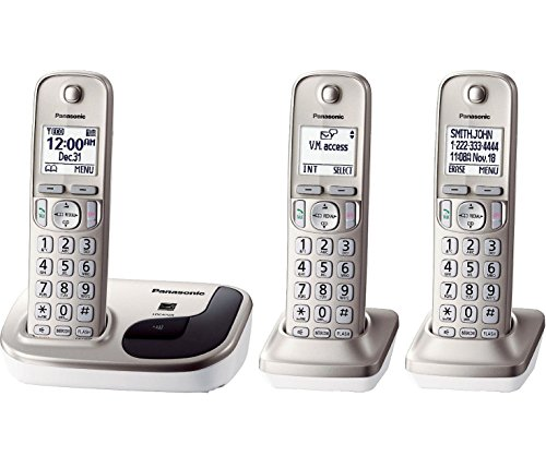 Panasonic Dect 6.0 Plus Expandable Digital Cordless Phone System With Caller Id - 3 Handset Pack