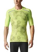 adidas Camiseta Manga Corta TF Chill GFX SS (Verde / Gris)