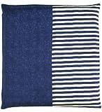 メリーナイト 日本製 綿100% 座布団カバー 「無地縞」 銘仙判 55×59cm ネイビー Z701-72