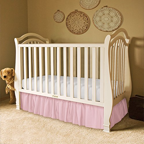 "Solid Ruffled Crib Bed Skirt, 11"" Drop front-979059"