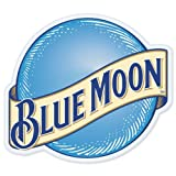 "Blue Moon Beer logo vinyl sign sticker decal 5"" x 4"""