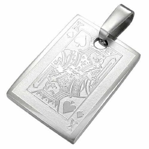 Urban Male Men'S Stainless Steel King Of Spades Pendant