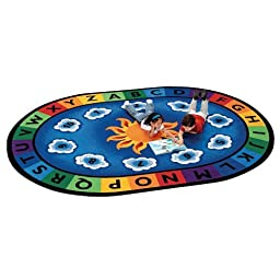 Sunny Day Learn & Play Oval Rug Size: 4\'5\