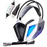 Sades SA-710 Professional Usb 7.1 Surround Encoding Audio Noise Cancelling Pc Gaming Headset 40mm Driver Deep...