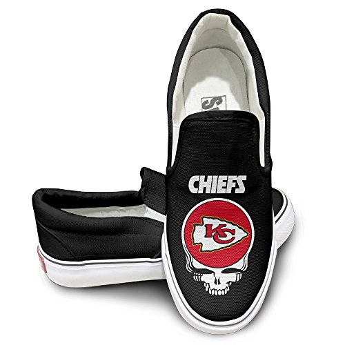 OOONG Kansas City Chiefs Casual Slip On Canvas Shoes Flats 38