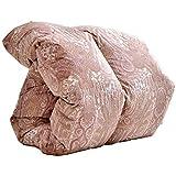 羽毛布団 日本製 ホワイトマザーグースダウン 増量1.2kg シングルロング ダウン93% 400dp(かさ高165mm)以上 消臭抗菌 国内パワーアップ加工 CILゴールドラベル ピンク 10119202 61