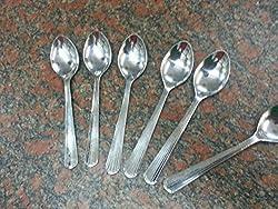 Akshara stainless steel spoons (set of 6)