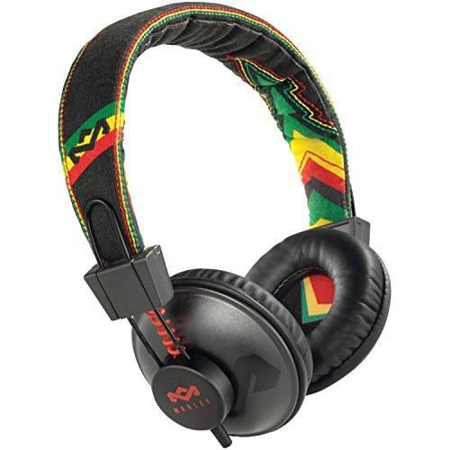 The House Of Marley Em-Jh013-Ra Positive Vibration - Jammin On-Ear Headphone With 3-Button Mic - Rasta