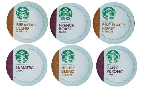18 Count - Variety Pack of Starbucks K Cups