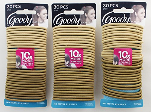 Goody Blonde Elastics 30 Count Pack Of 3 Apparel