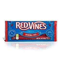 Red Vines Original Red Twists (5-Ounce Trays, Pack of 12)