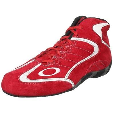 Oakley Men's Race Mid Sneaker,Red/White,6 M US
