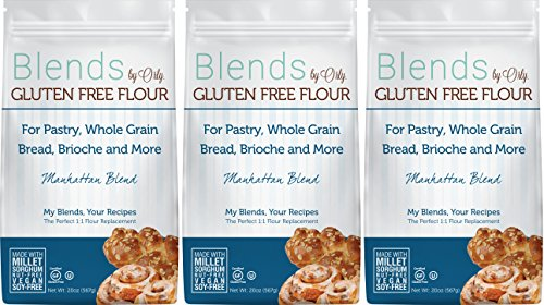 Custom Blended Gluten Free Pastry Flour - Blends By Orly - Manhattan Blend - Gluten-free Baking Flour for Donuts, Bagels and Specialty Breads 60ozs... (Sprouted Grain Bread Cookbook compare prices)