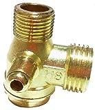逆止弁 チェックバルブ エアーコンプレッサー 補修 修理 交換用 部品 黄銅 90度 オスネジ