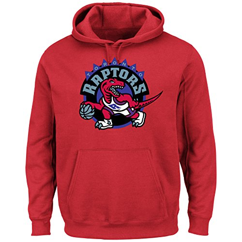 Toronto Raptors NBA Men's Hardwood Classics Tek Patch Pullover Hoodie Fleece (XXLarge)