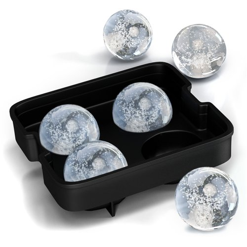 Checkout Home-Complete Ice Ball Maker Mold - 4 Whiskey Ice Balls -Premium Round Spheres Tray dispense