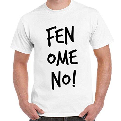 T-Shirt Divertente Uomo Maglietta Maniche Corte Cotone Con Stampa Fenomeno Linea Fun Basic, Colore: Bianco, Taglia: L