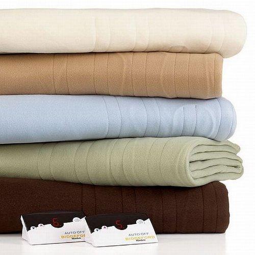 Biddeford - Comfort Knit Paradise Blue Queen Heated Blanket