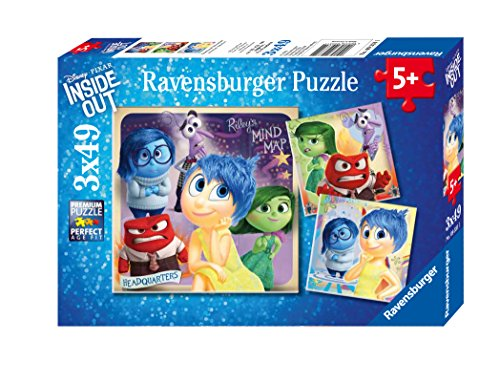 Ravensburger Disney Inside Out: Emotional Adventure Puzzle (3 x 49 Piece)