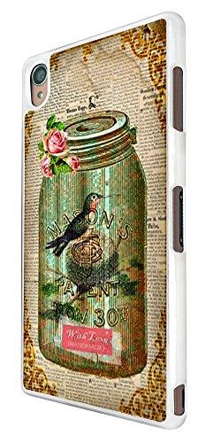 541 - Vintage Shabby Chic Victorian Bird Nest Floral Roses Design für Alle Sony Xperia Z / Sony Xperia Z1 / Sony Xperia Z2 / Sony Xperia Z3 / Sony Xperia Z4 / Sony Xperia Z1 Compact / Sony Xperia Z2 Compact / Sony Xperia Z3 Compact / Sony Xperia Z4 Compact / Sony Xperia M2 / Sony Xperia M4 Fashion Trend Hülle Schutzhülle Case Cover Metall und Kunststoff - Bitte wählen Sie Ihr Telefonmodell und Farbe aus der Dropbox