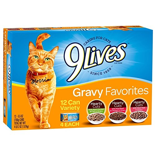 9Lives Hearty Cuts With Real Veal In Gravy