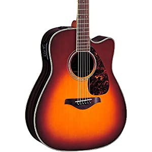 Yamaha FGX730SC Acoustic Electric Guitar, Brown Sunburst