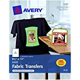 2 PACKS: Avery Personal Creations InkJet Iron-On Dark T-Shirt Transfers, White, Five Sheets per Pack (03279)