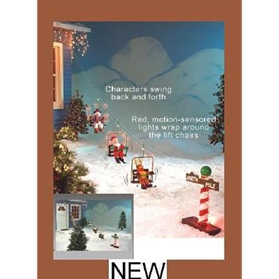 Amazon com christmas outdoor santa snowman animated ski lift yard