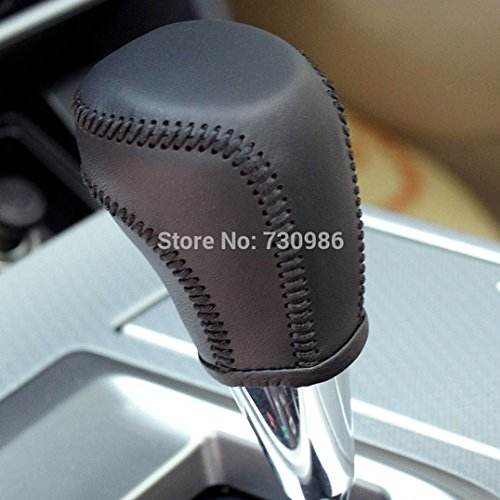 Black Genuine Leather Gear Shift Knob Cover for 2013 2014 2015 2016 Toyota RAV4 / 2012 2013 2014 2015 2016 Toyota Camry / 2014 2015 2016 Toyota Corolla / 2012 2013 2014 2015 Toyota Prius C Automatic (Gear Shift Knob Cover Toyota compare prices)