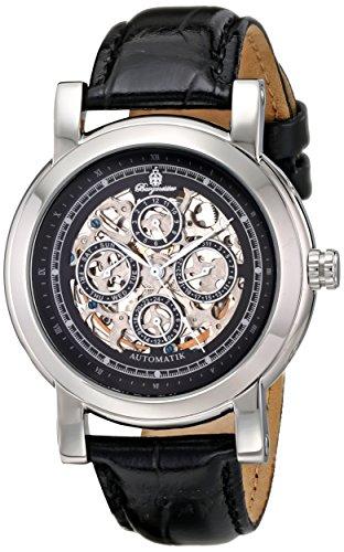 Burgmeister Alexandria BM129-122 - Reloj unisex automático, correa de piel color negro