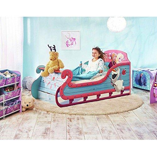 Disney Frozen Pferdeschlitten-Kleinkind-Bett mit Underbed Storage Plus Vollständig Federkernmatratzen
