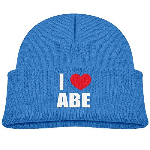 new-i-love-abe-i-love-abraham-heart-cotton-beanie-warm-kid-soft-4-color