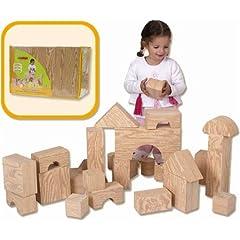 Edushape 32 Piece Big Wood-Like Blocks