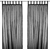 Red And Black Shower Curtains Cotton Tab Top Curtains