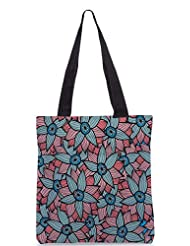 Snoogg Abstract Floral Background Designer Poly Canvas Tote Bag - B012FUATHQ