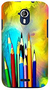 PrintVisa 3D-MMXA117-D7631 Abstract Pencil Color Case Cover for Micromax Canvas Magnus a117