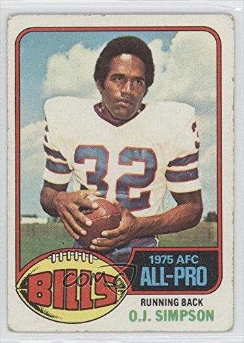 O.J. Simpson COMC REVIEWED Poor to Fair (Football Card) 1976 Topps #300 (Oj Simpson Football Card compare prices)