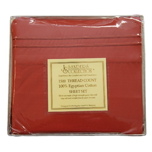 Js Sanders 1500 Thread Count Sheet Set King Size Burnt
