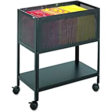 Safco Wire Utility Cart Black