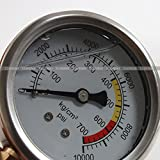"Forward-sell 2.4"" 60mm Hydraulic Oil Pressure Gauge Meter Liquid Filled 700kg 10000psi"