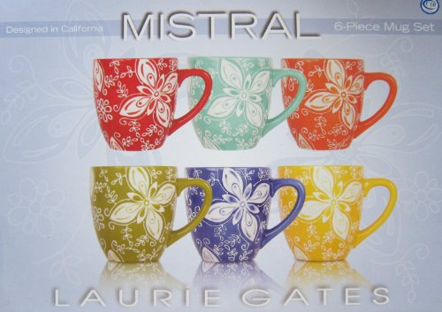 Laurie Gates Mistral Set Of 6 Mugs